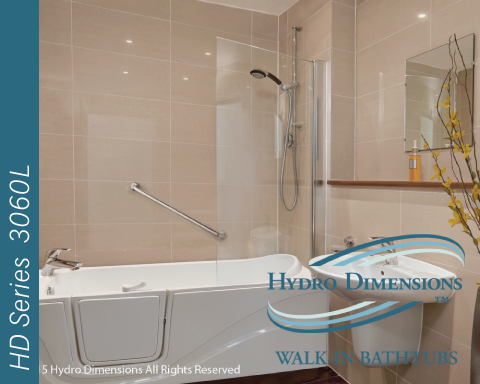 Hydro Dimensions 3060L Walk-in Tubs