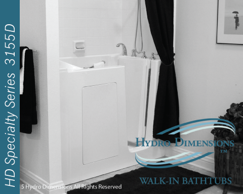 Hydro Dimensions 3155D Walk-in Tubs