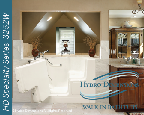 Hydro Dimensions 3252W Walk-in Tubs
