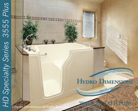 Hydro Dimensions 3555 Plus Walk-in Tubs