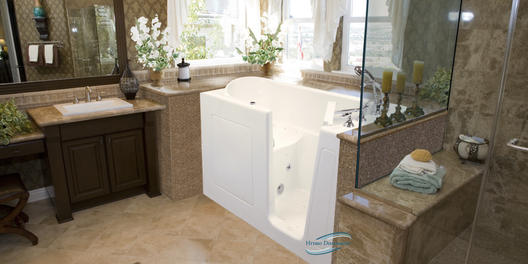 Hydro Dimensions Walk In Tubs   Handcrafted In The US   Call (888) 818 7111